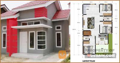 rumah minimalis 7x12 kamar 3 dan mushola - desain rumah