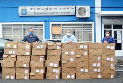 Registro-SP recebe do Grupo Boticário 10 mil unidades de álcool para a saúde pública do Vale do Ribeira