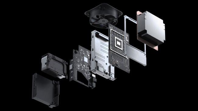 الأجزاء الداخلية لـ Xbox Series X.