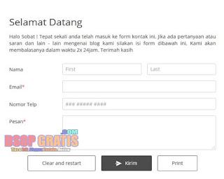 Cara Membuat Form Contact Us Blog Melalui 123formbuilder.com