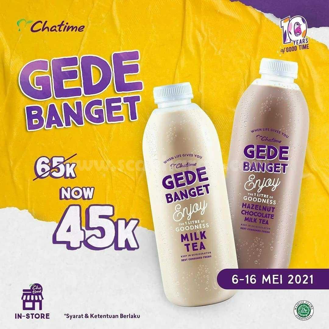 Promo Chatime Gede Banget 45 RIBU