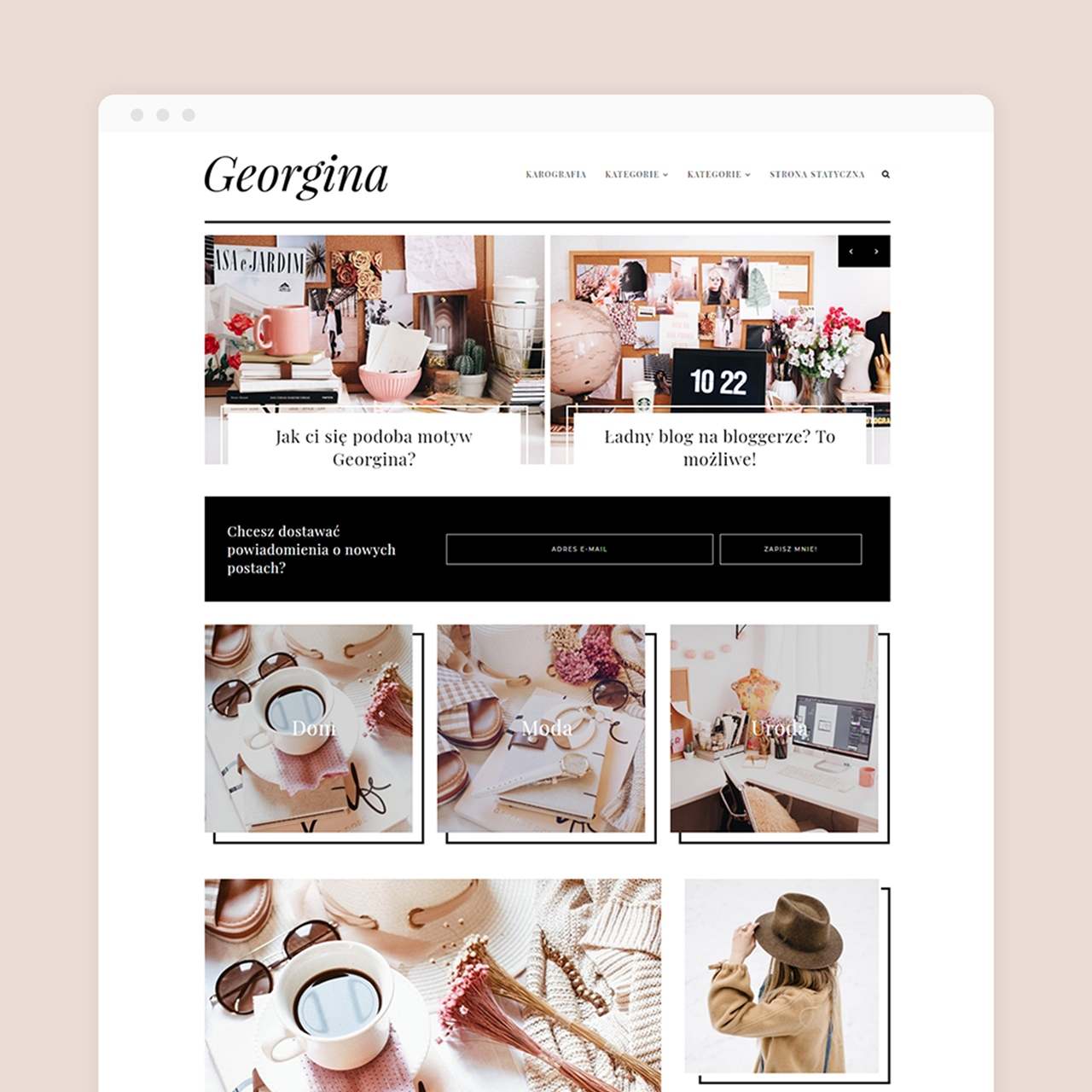 Motyw na bloggera Georgina