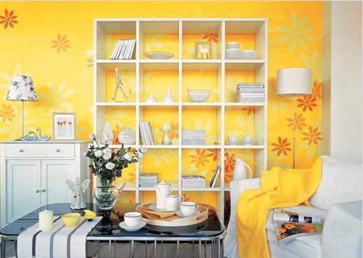 màu sắc tươi sáng giúp căn nhà sáng hơn
