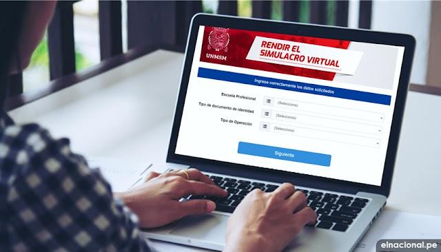 ¿Cuándo será el examen de admisión virtual de la Universidad San Marcos 2020-2?: simulacro del examen de admisión virtual 2020-2