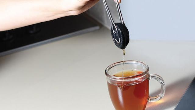 مصفاة شاي سيليكون قابلة للعصر