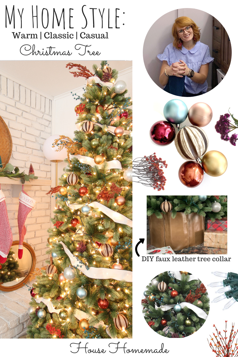 My Home Style: autumn colors, warm, classic, casual Christmas Tree | House Homemade