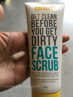 Happily Unmarried Face Scrub Dry to Normal Skin, 100g Review, Swatch- NWoBS Blog