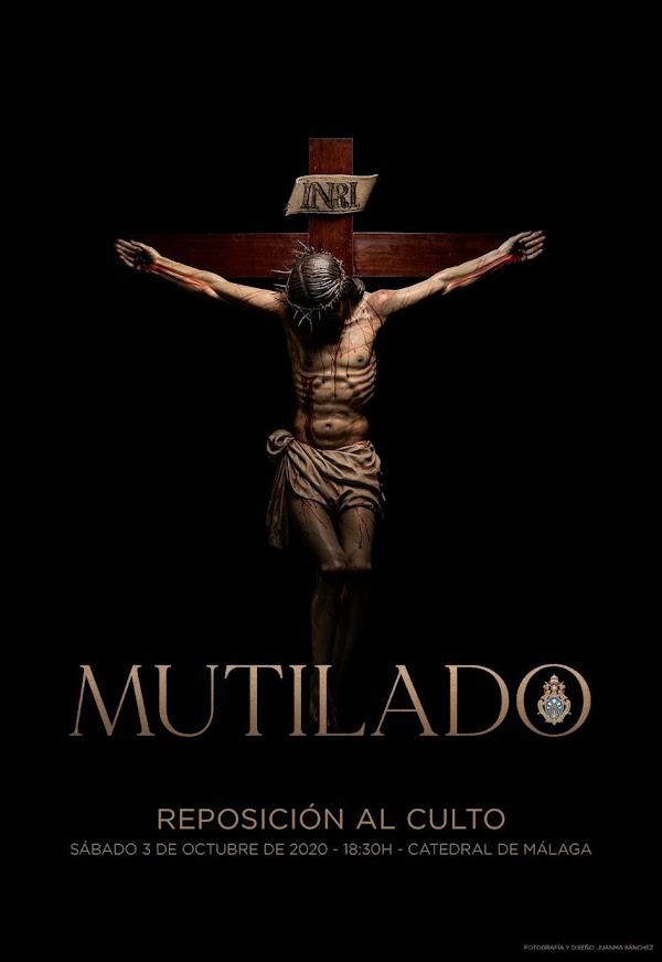 Así ha quedado el Cristo Mutilado tras la restauración por Miñarro