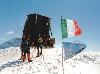 The mountain hut on the top of Punta Gnifetti remains the highest building in Europe at 4,554m