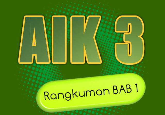 Rangkuman Materi Al Islam dan Kemuhammadiyahan (AIK) III BAB 1