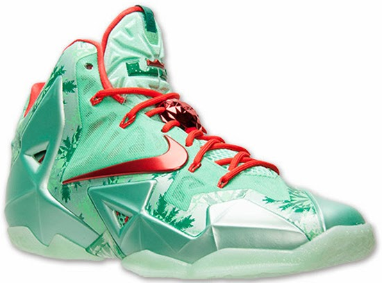 new product 550b7 abe68 This Nike LeBron 11 comes in a green glow, light crimson and arctic green  colorway. They are a part of the