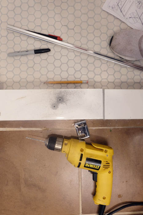 drilling holes in tile