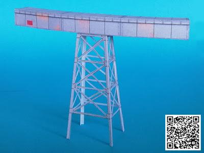 Bastelbogen für US-amerikanische Brücke im Maßstab 1:220 für Spur Z