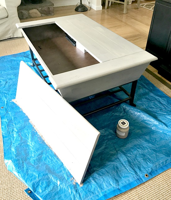 How to Paint a Large Coffee Table Homeroad