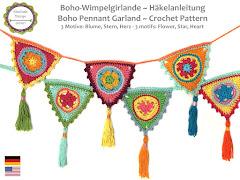 Boho-Wimpelgirlande Häkelanleitung