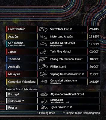 Jadwal moto gp 2021