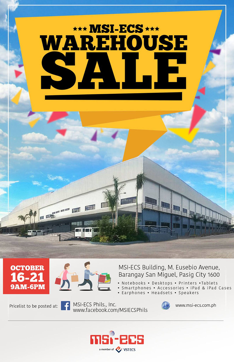 MSI-ECS warehouse sale 2016!