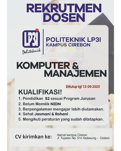 Lowongan Kerja Dosen Komputer Manajemen Lp3i Cirebon