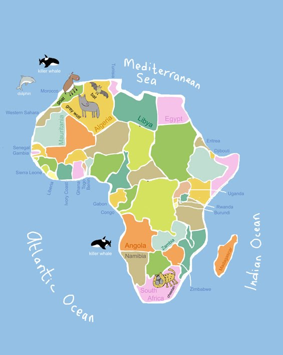 Its's a jungle in here!: Kids Map Of Africa