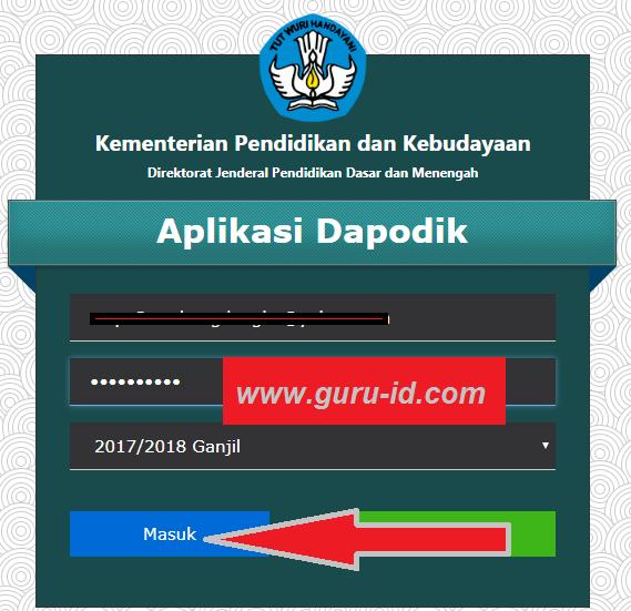 gambar login aplikasi dapodik versi 2018
