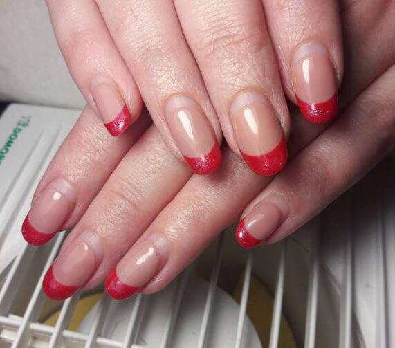 french Shellac ,Glitter Nails, for women
