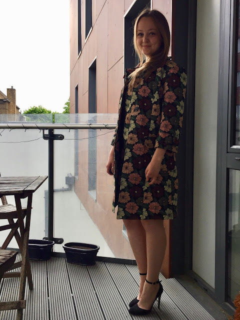 Diary of a Chain Stitcher: Floral Brocade Vogue 1537 Coat and Dress
