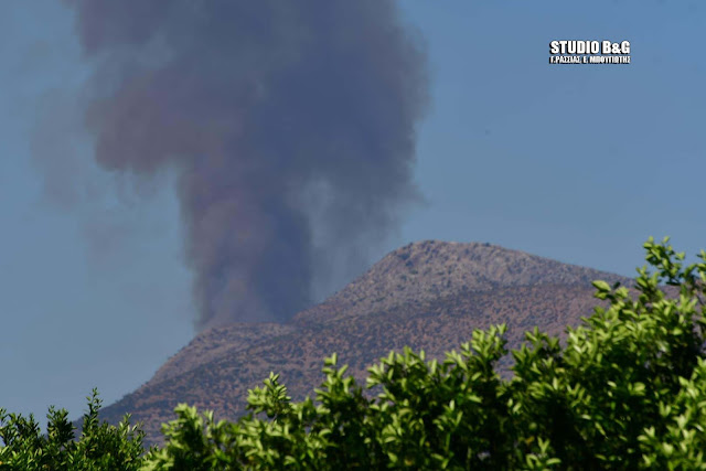 Εκκενώνεται λόγω πυρκαγιάς ο αρχαιολογικός χώρος των Μυκηνών στην Αργολίδα