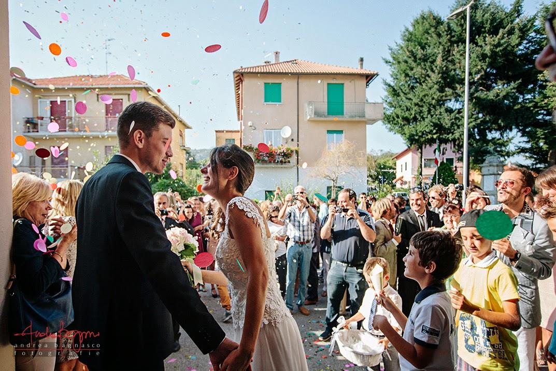 uscita degli sposi matrimonio Savona