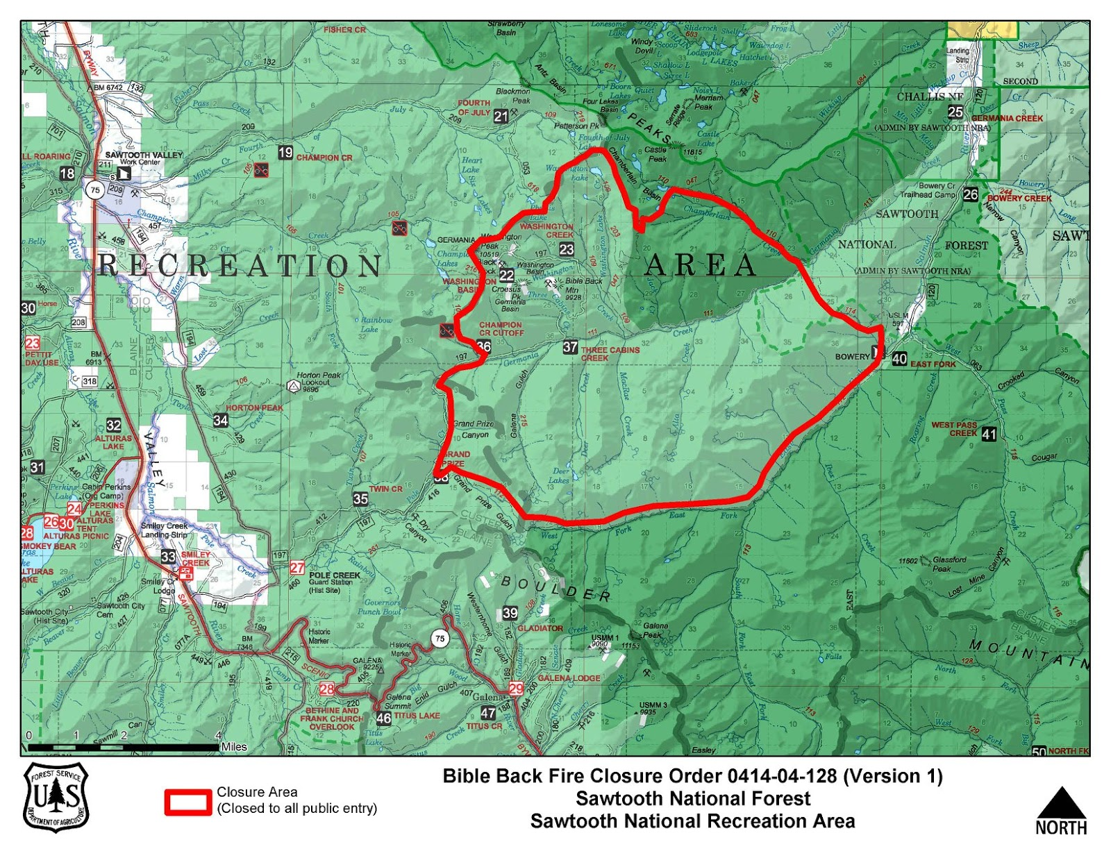 Road Map Forest 6 Area Idaho