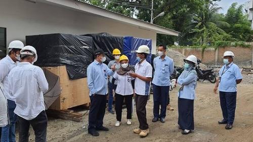 Dirtek Perumda Air Minum Kota Padang Tinjau Reservoar Santika Hotel