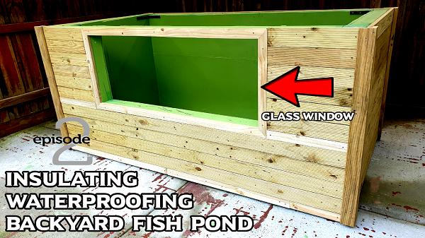 Waterproofing & Insulating DIY Backyard Garden Pond