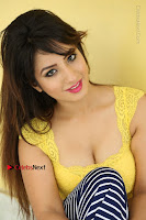 Cute Telugu Actress Shunaya Solanki High Definition Spicy Pos in Yellow Top and Skirt  0322.JPG