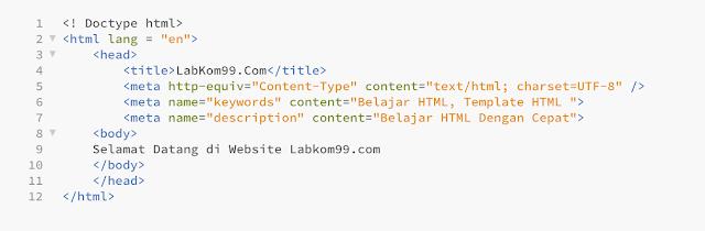 Bagaimana Cara Membuat Template HTML