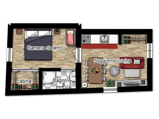 La casa in vetrina soluzioni salvaspazio ottenere il for Planimetria appartamento