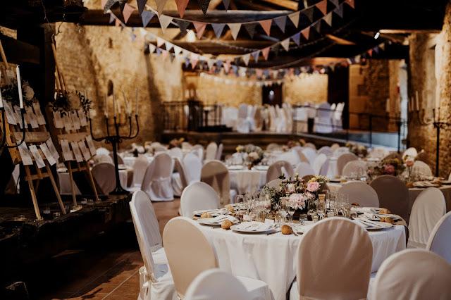 fleuriste mariage Lyon, château de Janzé, centre de table