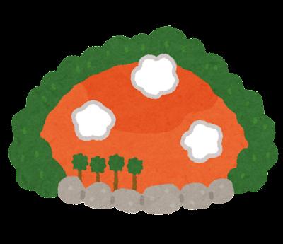 血の池地獄のイラスト(地獄めぐり)