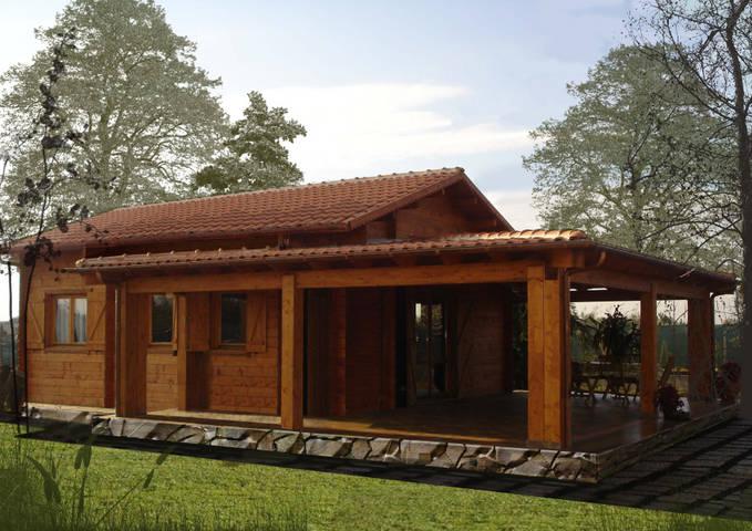Progetti di case in legno diana 51t37 for Immagini di case arredate