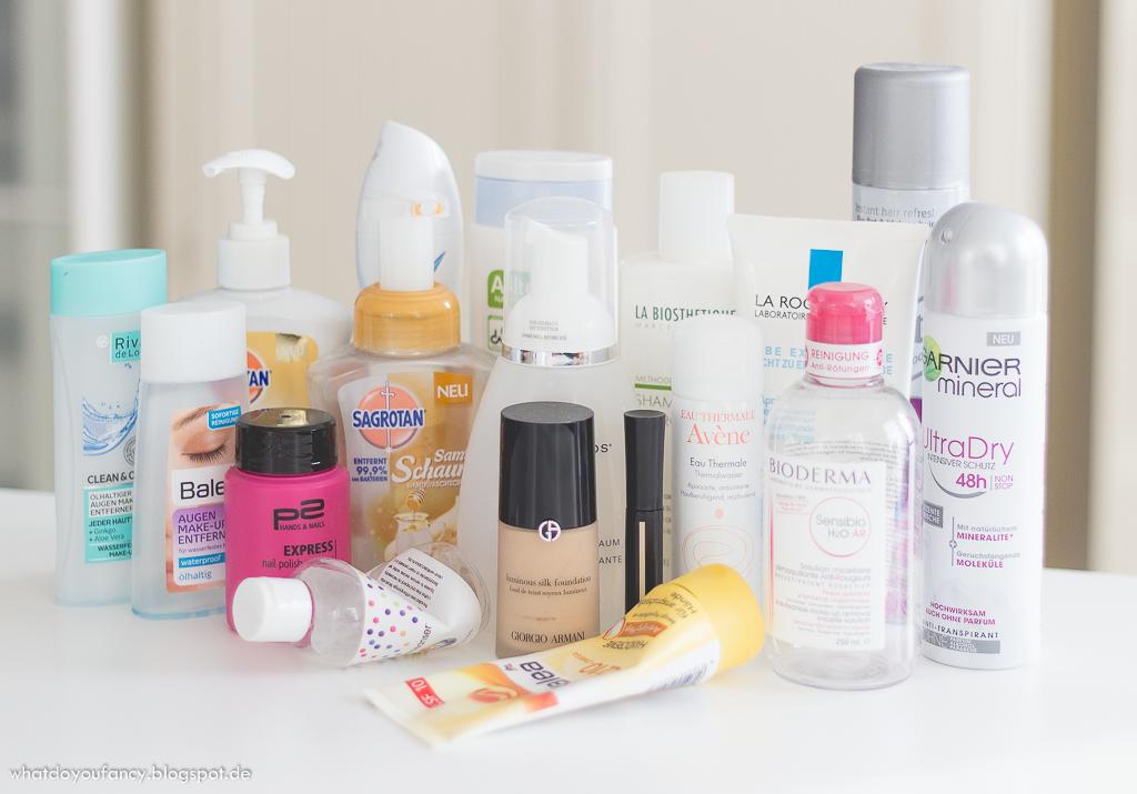 Aufgebrauchtes an Kosmetik und Pflege aus den letzten Monaten