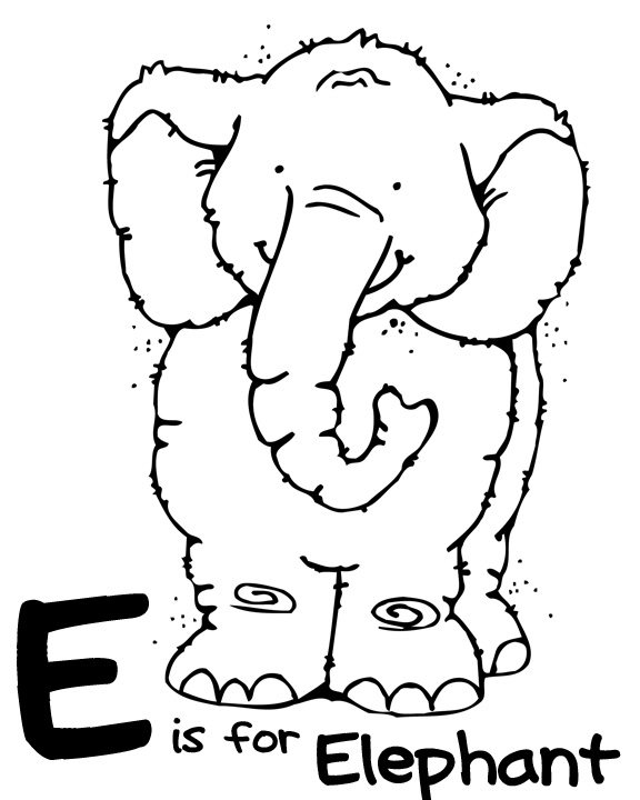 letter e coloring pages elephant - photo#6
