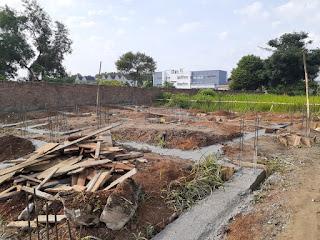Progress pembangunan rumah contoh di Cluster Sayana Eka Nusa Eka Rasmi Medan Johor 2