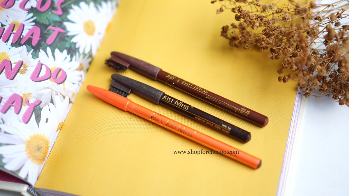 review pensil alis Just Miss Brow Pencil 209M & 311 Brown