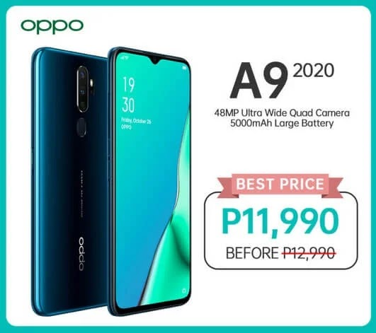 Price Drop Alert: OPPO A9 2020 Now Only Php11,990 (Instead of Php12,990)