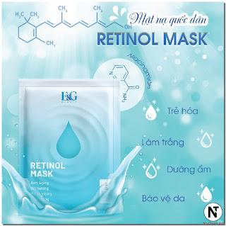 Mặt nạ - Retinol Mask (Hộp 3 miếng) - E&G Beauty
