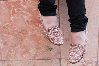 Sam Edelman Adena Spiked Pink Flats