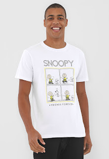 Camiseta Snoopy Friends Forever Branca