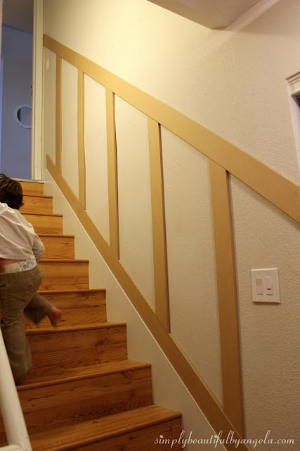 Lighting Basement Washroom Stairs: Simply Beautiful By Angela: Basement Staircase Board And