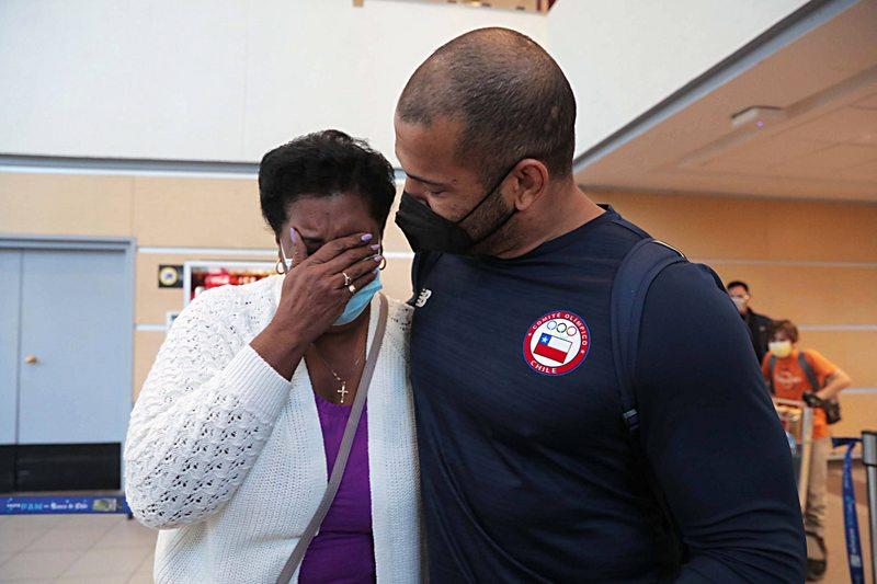 Yasmani Acosta y el reencuentro con su mamá