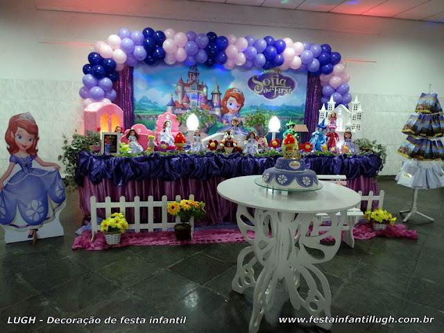 Decoração festa Princesa Sofia - Tradicional Luxo
