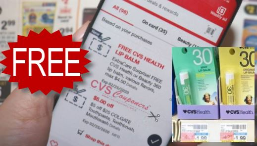free cvs health lip balm at cvs
