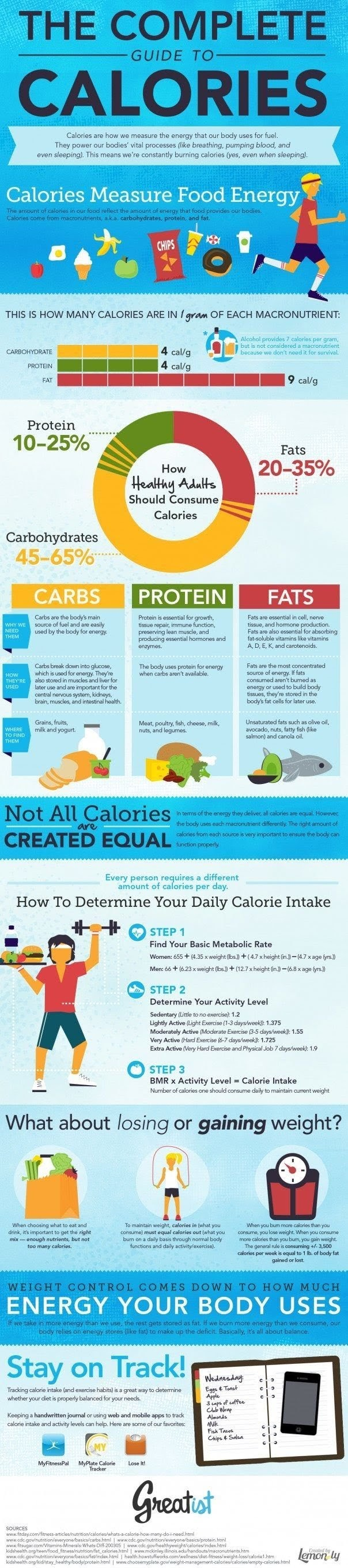 The Complete Guide To Calories #ingraphic